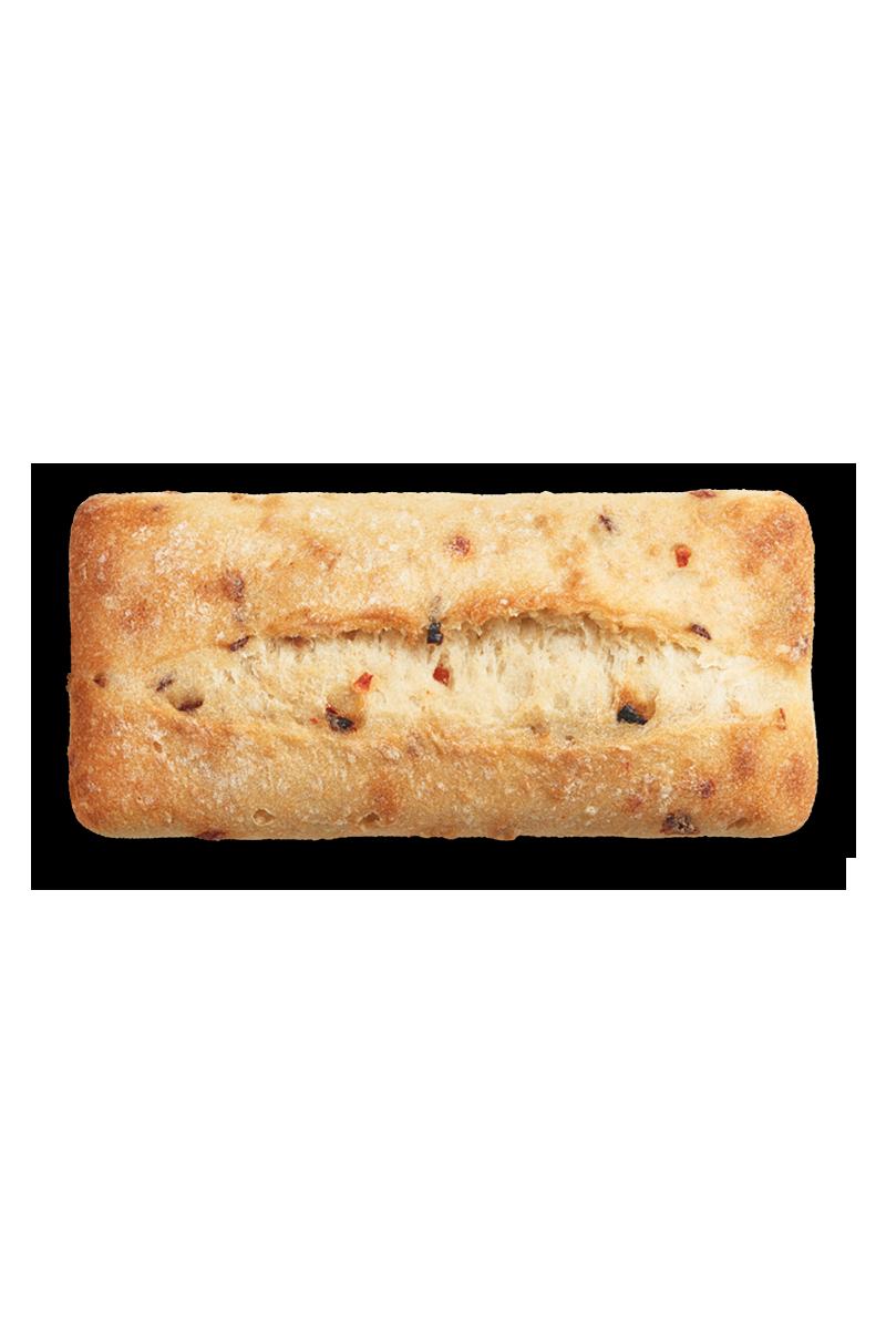 Pain sandwich - Pain sandwich poivrons rouges et oignons
